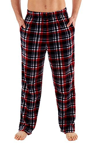 Classico Da Uomo Camouglafe o A quadretti Pile Abbigliamento Casual Pigiama Pantaloni pantaloni - Rosso, XX-Large