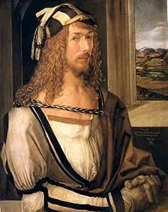Reproduction 60 x 70 cm - Albrecht Durer - autoportrait 1498, Madrid Prado -