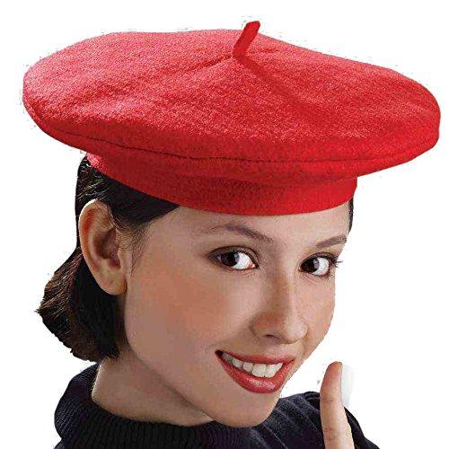 Beret français rouge - Taille Unique