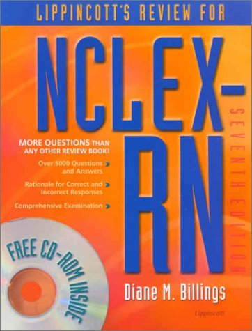 Lippincott's Review for NCLEX-RN (Lippincott's Q&A Review for NCLEX-RN (W/CD)) by Diane M. Billings (2001-10-01)