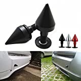 COGEEK Car Styling Rear Bumper Spikes Guards Protector Collision Aluminum Tail Cone Tuning Parts, Pack of 2 (black) - COGEEK - amazon.co.uk