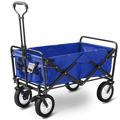 D4P Display4top Carro Plegable de Mano Carro Transporte para jardín Carro para Playa Carga 80kg