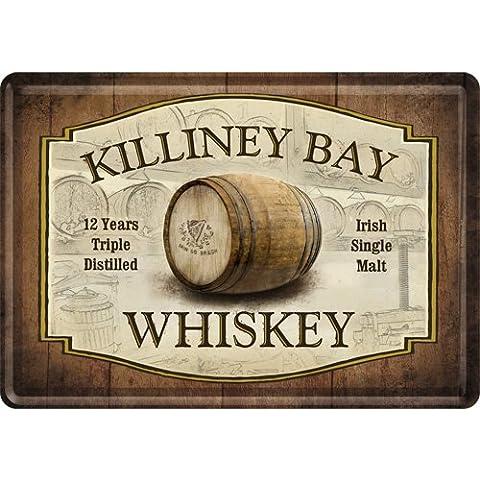 Nostalgic Art Killiney Bay Irish Whiskey Metal Postcard With Envelope