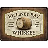 Nostalgic-Art 10118 Open Bar - Killiney Bay Whiskey, Blechpostkarte 10x14 cm