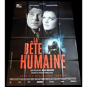 LA BETE HUMAINE Affiche de film 120x160 - R2015 - Jean Gabin, Jean Renoir