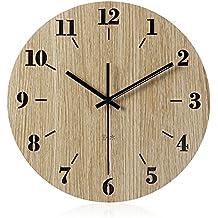 AIZIJI Moderne Und Minimalistische Grosses Wohnzimmer Wanduhr Home Super Holz 30 Cm Uhren Zum