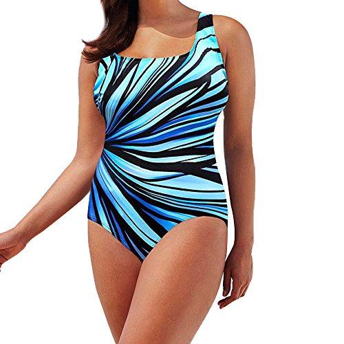 Beonzale Damen Badeanzug Gepolsterter Badeanzug Monokini Swimwear Push Up Bikini Sets One Piece Tummy Control Badeanzug ()