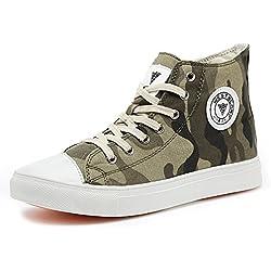 JEDVOO Zapatillas Camuflaje Sneaker Casual Zapatos Unisex para Hombre Mujer (Green41)