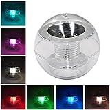 Schwimmende Pool Licht, Leegoal wasserdicht PC Solar Floating Light, 7 Farbe ändern LED Ball nachtlicht Lampe für Schwimmbad Teich Garten Party Home Dekoration (1 Stück)