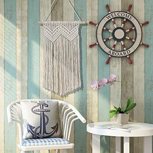 MOVER Makramee Woven Wandbehang 52 X 34.5cm Boho Chic Handgefertigte Gewebte Baumwollseil Ivory for Wohnzimmer Schlafzimmer Hochzeitsfeier Dekoration