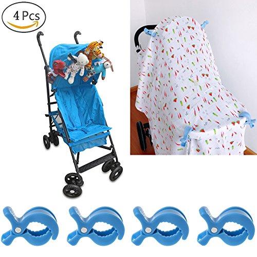 Knöpfe Vier Haken (jiamins 4/Set Buggy Knöpfen zu Haken Baby Autositz Cover Clips Musselin Sonne Schatten zu Betthimmel Kinderwagen Spielzeug zum Aufhängen Halterung)