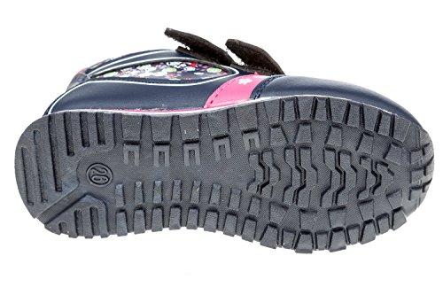 GIBRA® Kinder Knöchelschuhe, mit Klettverschluss und Lederinnensohle, dunkelblau/pink, Gr. 26-36 Dunkelblau/Pink