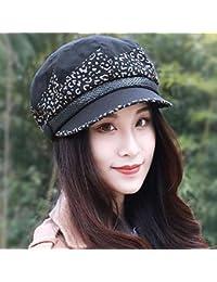 8ae3d2e845c57 RangYR Sombrero De Mujer Sra. Cap Gorra De Boina Otoñal Colorblock Gorra De  Octágono Gorra