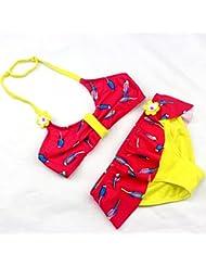 AMYMGLL Enfants maillot de bain bikini maillot de corps enfants maillot de bain de source chaude en Europe et la protection de l'environnement des États-Unis