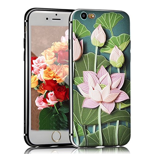 iPhone 6s Plus Hülle, Sunroyal TPU 3D Handyhülle Muster Case Cover Für iPhone 6 Plus / iPhone 6s Plus 5,5 Zoll (Bunt Frucht) Silikon Backcover Case Handy Schutzhülle - Cover Cartoon Garten Aquarell De Pattern 12