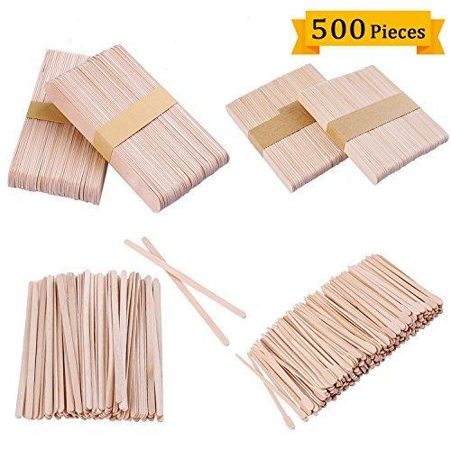Augenbrauen-waxing Form (Whaline 500 pcs Holzspatel Wachs, Spatel Holz DIY Handwerk Sticks, Körperwachs Zuckerpaste Spatel, Waxing Sticks für Augenbrauen Haarentfernung (4 Größe))