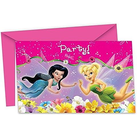 Carte D Invitation Anniversaire - 6 cartes d'invitation Clochette et ses