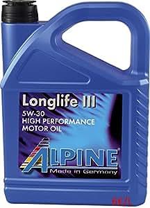alpine longlife 3 5w30 eur 6 l 5liter kanister vw. Black Bedroom Furniture Sets. Home Design Ideas