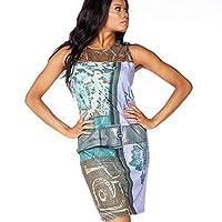 Desigual Tank Body Midi Belt Waist Print Dress