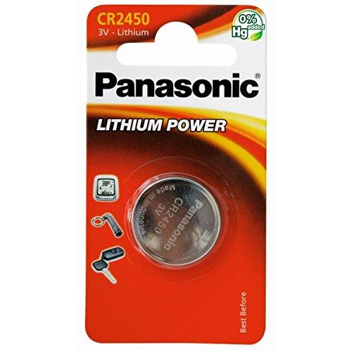 Panasonic CR2450 Lithium-Knopfzellen, 5 Stück