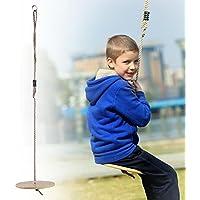 fancylande columpio infantil Disco Exterieur madera árbol cuerda de Swing ajustable, en madera disco niño Balancer sûr y confidencial