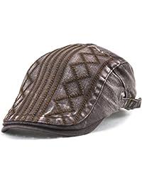 Scrox 1x Hombre Mujer Sombreros Gorras Boinas Moda Twill Hilo Bordado de  Diamantes Flat Cap Casual a771639e002