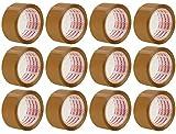 Packatape 12 Rotoli Da 48Mm X 66M Di Marrone Nastro Adesivo Per Imballaggi Per Pacchi E Scatoloni