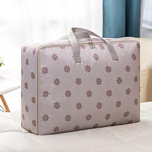Portable Quilt Aufbewahrungstasche Verdicken Oxford Tuch Wohnzimmer Sortieren Aus Beweglichen Tasche (Pack Of 4),Gray,M