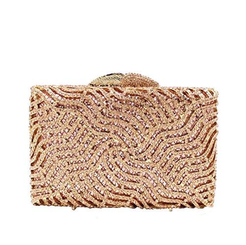 Frauen-hochwertige Handtasche Kristall Abendtasche Luxus Bankett Tasche A