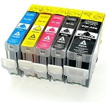 Logic-Seek 5 Tintenpatronen für Canon Pixma PGI-5 CLI-8, IP4200 IP4300 IP4500 IP5200 IP5300 IP6600 IP6700 MP500 MP530 MP600 MP610 MP800 MP810 MP830 MP970 MX850 Pro 9000 Mark II