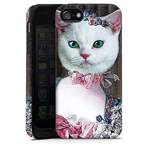 Apple iPhone X Silikon Hülle Case Schutzhülle Kitty Cat Katze Madame Tough Case matt