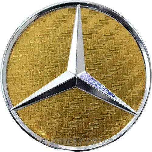 Finest-Folia Carbon Lenkrad Emblem Folie Ecken (Carbon Gold)