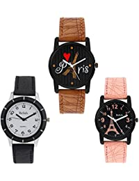 Relish Analogue Round Black Dial Women's Watches - RELISH-GIFT-501
