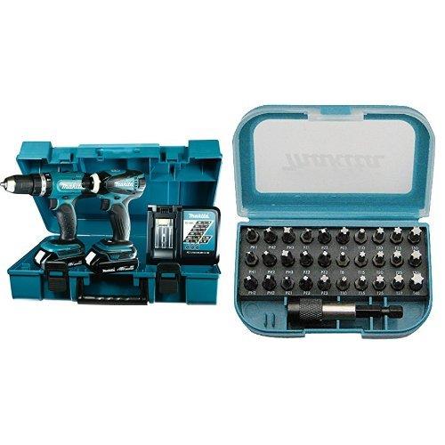 Preisvergleich Produktbild Makita Akku-Set 18 V, DHP453 und DTD146, DLX2020Y + Bit Set