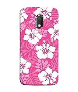 PrintVisa Designer Back Case Cover for Motorola Moto E3 :: Motorola Moto E (3rd Gen) (Beauty Abstract Illustration Vector Floral Textile Print)