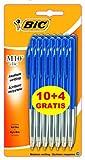 Bic M10 Fashion Clic Ball Kugelschreiber, Blau, 10 Stück + 4 gratis