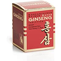Ginseng Pur DE-WPT-031 Koreanischer Reiner Roter Ginseng - Tabletten (Vegan) - Monatskur, 200 Stk