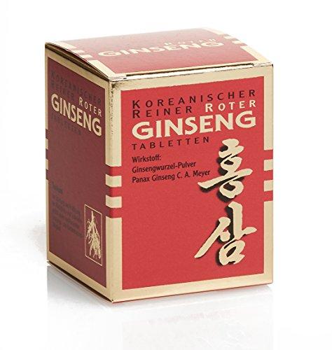 Koreanischer Reiner Roter Ginseng - 200 Tabletten (vegan), hohe antioxidative Kapazität: ORAC-Wert von 163.000 TE/100g