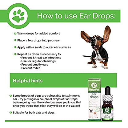 NaturPet Ear Drops | Natural Ear Infection Medicine For Dogs | Dog Ear Cleaner | Cat Ear Cleaner | Helps with Wax, Yeast, Itching & Unpleasant Odors 3