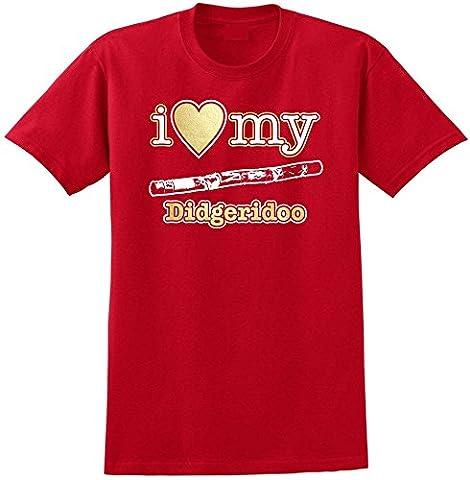 Costume Emu - Didgeridoo I Love My - Red Rouge