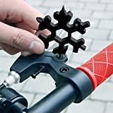 BaZhaHei Snowflake Wrenches Keychain Tool 19-in-1 Multi-Function Gadget Tools Home Improvement Combination Compact Portable Outdoor Snowflake Tool