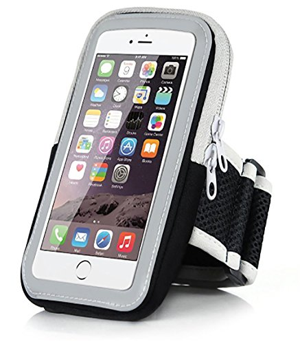 Premium Phone Arm Band Tasche Fall Abdeckung Halter FüR Lauf Gym Workouts ÜBung, Handy Armband Mit Fingerprint Touch FüR Iphone X / 8/7/6 S / 6 / Plus / 5, Galaxy S8 / S7 / S6, Google Pixel (Black)