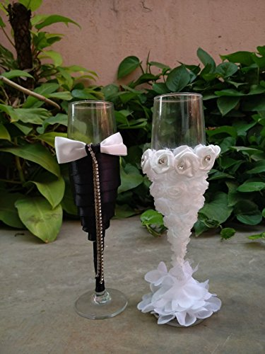 Satyam Kraft Wine Glasses for couples Set of 2 for Husband Wife...