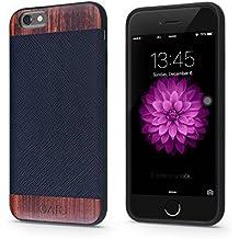 "iATO - Carcasa para iPhone, piel sintética, Black Saffiano & Rose Wood - iPhone 6/6S PLUS [5.5""] CHECK YOUR SIZE!!!, iPhone 6 / 6S PLUS"