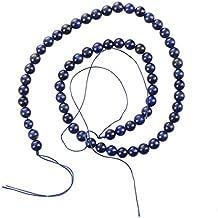 TOOGOO(R) Piedra preciosa azul Lapislazuli suelta granos 6mm Hilo CALIENTE