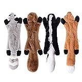 MEJOSER 4pcs Hund Quietschende Kauen Spielzeug Keine Füllung Hund Spielzeug Plüsch Tier Hundespielzeug für Kleine Medium Hund