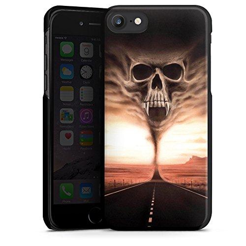 Apple iPhone X Silikon Hülle Case Schutzhülle Skull Wüste Schädel Hard Case schwarz