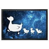 Mr. & Mrs. Panda 40 x 60 Fußmatte Enten Familie - Enten, Kinder, Mutter, Entenfamilie, Familie, Spruch, Eltern Fußmatte, Türvorleger, Schmutzmatte, Fussabtreter, Matte, Schmutzfänger