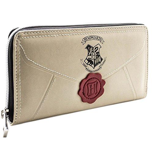 Original cartera monedero para mujer con cremallera de carta a Harry Potter.