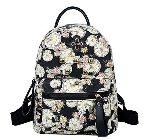 fanselatm-flower-canvas-backpack-mini-rivet-pack-for-teenage-girls-black